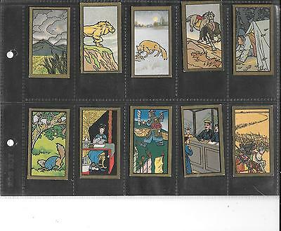 Anonymous - Chinese Proverbs (?) - Chinese Backs - Gold Borders - 10 Cards