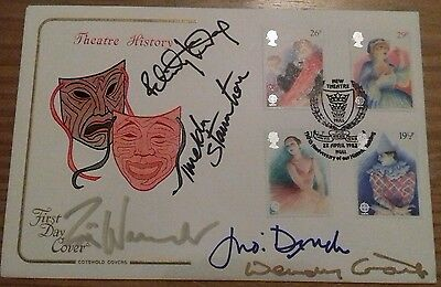 Theatre History first day cover signed by 5 great actresses