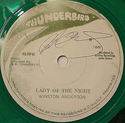 """Winston Anderson - Lady Of The Night 7"""" (Tuff Roots) Few Signed Copies Left!!"""