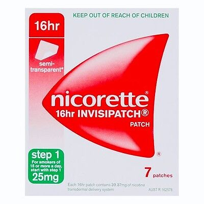 NICORETTE New 16hr Invisipatch Quit Smoking 7 Patches, Step 1, Expires 6-2017