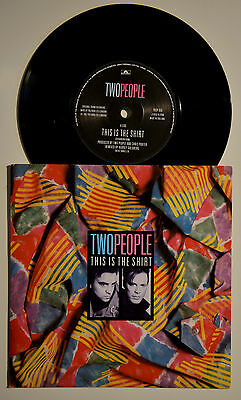 """Two People - This Is The Shirt 7"""" Vinyl New Wave 1987"""