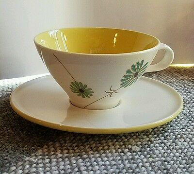 Informal True China Iroquois Ben Seibel Blue & Yellow Lazy Daisy Cup And Saucer.
