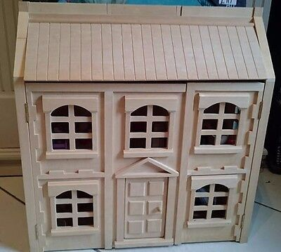GEORGIAN style wooden dolls house and furniture
