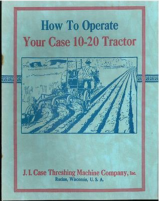 Case 10-20 Tractor Book