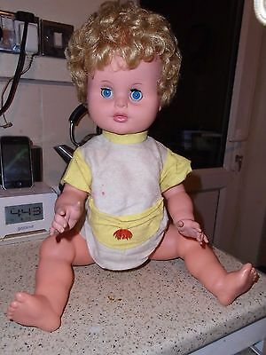 """Vintage Large Pram  Baby Doll, 20"""" Baby Doll, Vintage Outfit"""