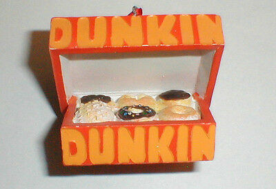 One  2014   Dunkin Donuts Box Of Donuts Holiday Ornament   Mib