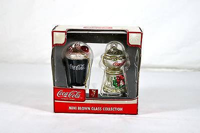 Coca-Cola Mini Blown Glass Collection Christmas Ornaments - Free Shipping