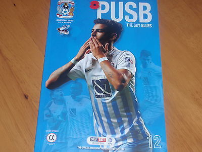 COVENTRY CITY v SCUNTHORPE UNITED - 12/11/2016 - PROGRAMME