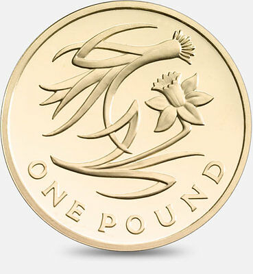 £1 Pound Coin / 2013 / The Floral Series / Wales