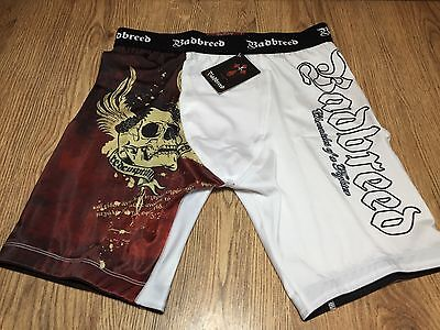 Badbreed Redemption Vale Tudo Shorts White Large - Brand New