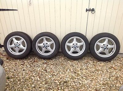BMW 3 Series /Z3 alloy wheels with nearly new Continental Wintercontact tyres