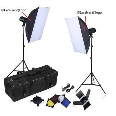 Excelvan 500W Estudio Fotografico Tent Fondo Set Kit Soporte Softbox luz flash