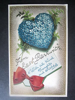From East Barkwith. Embossed Heart Shaped Forget-Me-Nots.