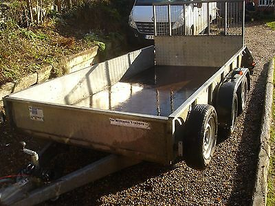 Ifor williams GD 126 GD126 Plant twin axle trailer