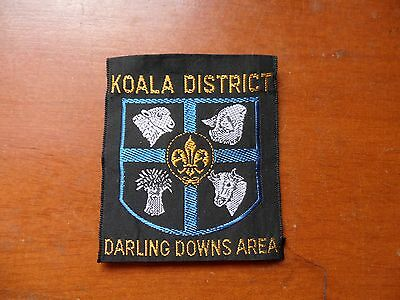 Koala District Darling Downs Area Australia Scout Cloth Badge