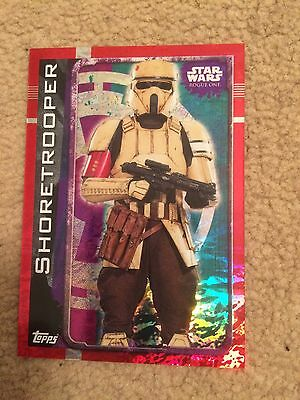 STAR WARS: ROGUE ONE Trading Cards - HOLOGRAPHIC FOIL Card - Shore trooper 181