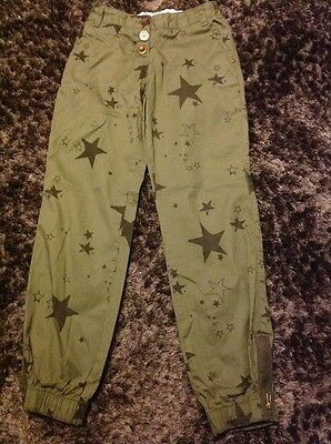NEXT KHAKI STAR TROUSERS AGE 10 years