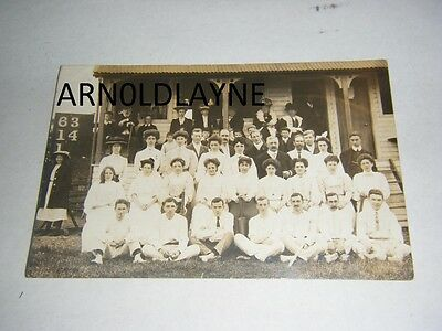 Old Cricket Players Group Photo R/p Postcard