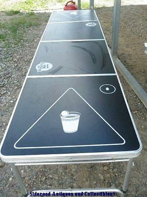 GoPong Go Pong Tournament Size Beer Pong Table 8' x 2' VGUC