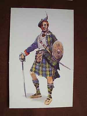 Vintage Cousland postcard Cock o'the North Gordons Scottish clan history