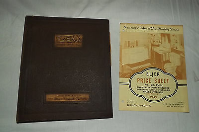 Vintage 1940  ELJER PLUMBING FIXTURES Ford City PA Catalog + 1949 PRICE GUIDE