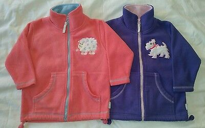 2 × Girls Zip Up Fleece by JPW Junior/  Edinburgh woollen mill. Age 2/3