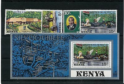 Kenya. 5 - Mounted Mint/ Used Stamps/min Sheet For 1977 Silver Jubilee On S/card