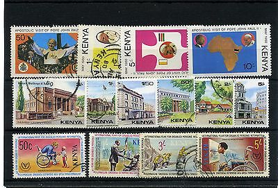 Kenya.14 -- 1980/1 Mounted Mint/ Used Stamps On Stockcard