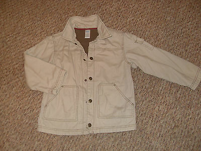 AGE 10 BEIGE CLASSIC STUD FASTEN FLEECe LINED JACKET SMART CASUAL EASY DAYWEAR