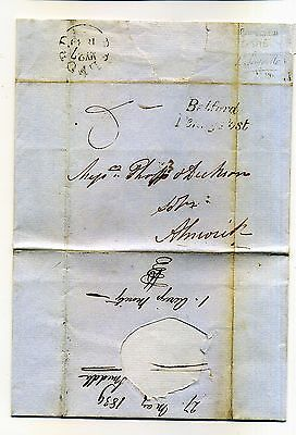 1839 Entire To Bamburgh Castle With Belford Penny Post Strike