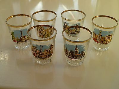 Vintage Shot Glasses with Scenes of London
