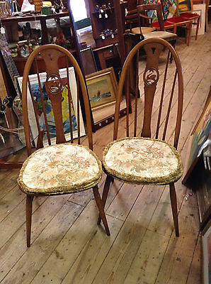 Ercol  Swan Back Pair of Chairs Golden Dawn with Cushions