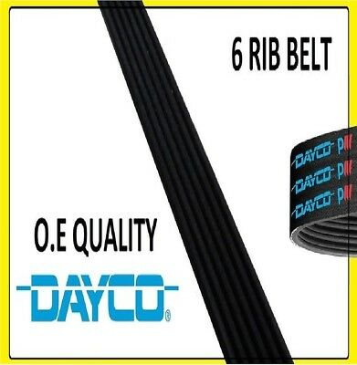 DAYCO Poly-V Ribbed Belt 6 Ribs 1076mm 6PK1076 Auxiliary Fan Drive Alternator