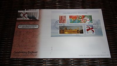 GB FDC MINISHEET - CELEBRATING ENGLAND - ST GEORGE STREET (2007) with insert