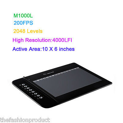 "UGEE M1000L Profesional Electrónica Tablet Gráfica Digital Arte 10""x 6"" Pantalla"