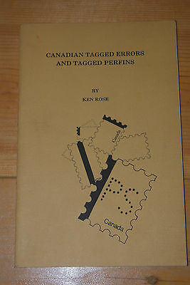 Weeda Canadian Tagged Errors and Perfins, Ken Rose original booklet, excellent