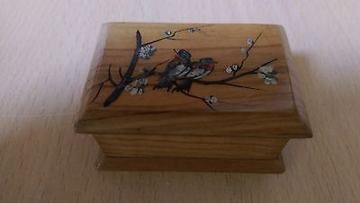 Beautiful, decorative vintage wooden double stamp holder