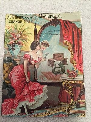 Vintage Advertising Card For New Home Sewing Machine Co