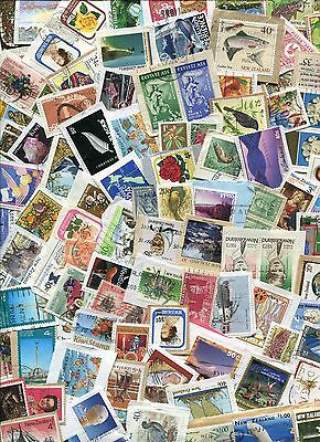 STAMPS KILOWARE NEW ZEALAND 225g. FROM CHARITY SOURCE WITH PRIVATE POSTS