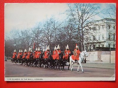 Military Postcard-Life Guards In The Mall London
