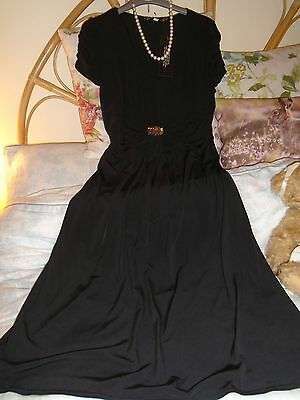 Joanna hope PARTY Evening Little black dress  NEW  with STRETCH Size  14/16