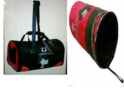 Catsline Cat Carrier/Crate/Bag & Catsline Cat Toy Tunnel With Free Cat Ball Toy