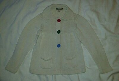 Girls Cream Cardigan Age 4/5 By Marks and Spencer