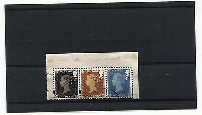 Stamps Gb Penny Red,blue & Black From P. Booklet Vfu.2016