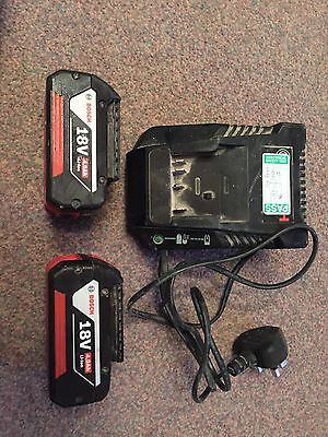 2 x Bosch 18v 4.0Ah Li-ion Professional Battery, Cool Pack With Charger