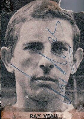 Ray Veall Everton Signed Magazine Picture