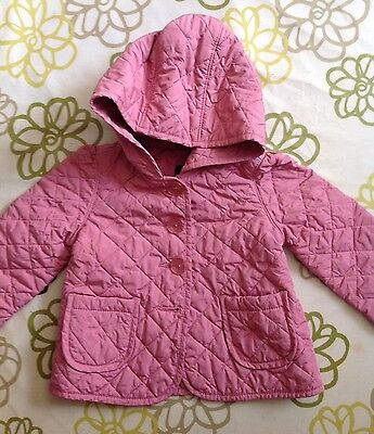 Baby Gap Pink Quilted Padded Mac/Coat/Jacket, 3T/3yrs