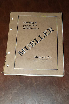 1924 MUELLER CATALOG G + 1926 Price Guide ~ Mueller Co. Decatur, ILL  Plumbing