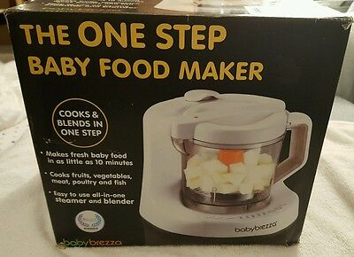 Baby Brezza One Step Baby Food Maker, White - Pre owned