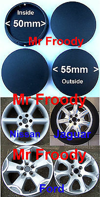 50mm Universal Alloy Wheel Centre Caps to fit Jag/Ford/Nissan/TSW/Toyota